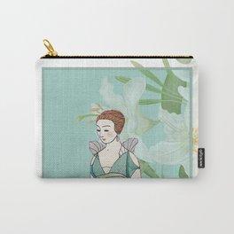 Woman Fine Art - Vintage Parisian fashion - Lilies Flower Carry-All Pouch