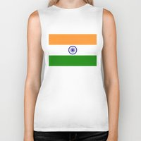 islam Biker Tanks featuring Flag of India - High quality authentic HD version by Bruce Stanfield