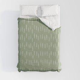 Raindrop Boho Abstract Pattern, Sage Green Duvet Cover