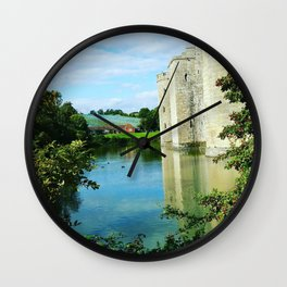 Castle and it's Moat Wall Clock