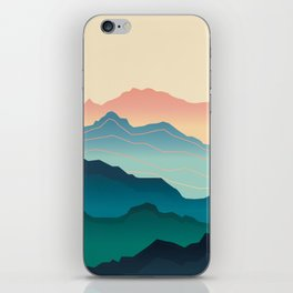 Wanderlust Gradient Mountain iPhone Skin