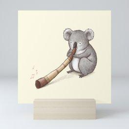 Koala Playing the Didgeridoo Mini Art Print