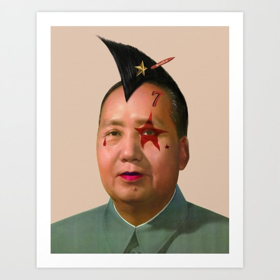 Rocky Rock Mao Art Print