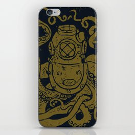Mark V Octopus - gold iPhone Skin