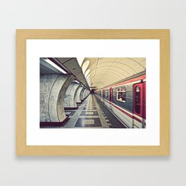 Metro, Prague. Framed Art Print