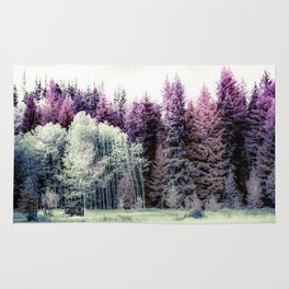 Tiny Cabin Among The Large Forest, Montana Rug