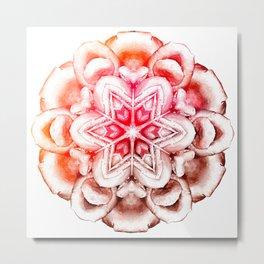 Tie-Dye Rose Ornament Metal Print