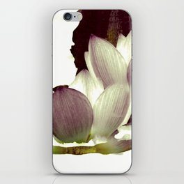 lotus and branch iPhone Skin