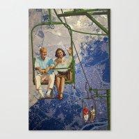 ski Canvas Prints featuring Ski Lift by TRASH RIOT