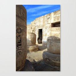 Habu Temple, Luxor (Egypt) Canvas Print