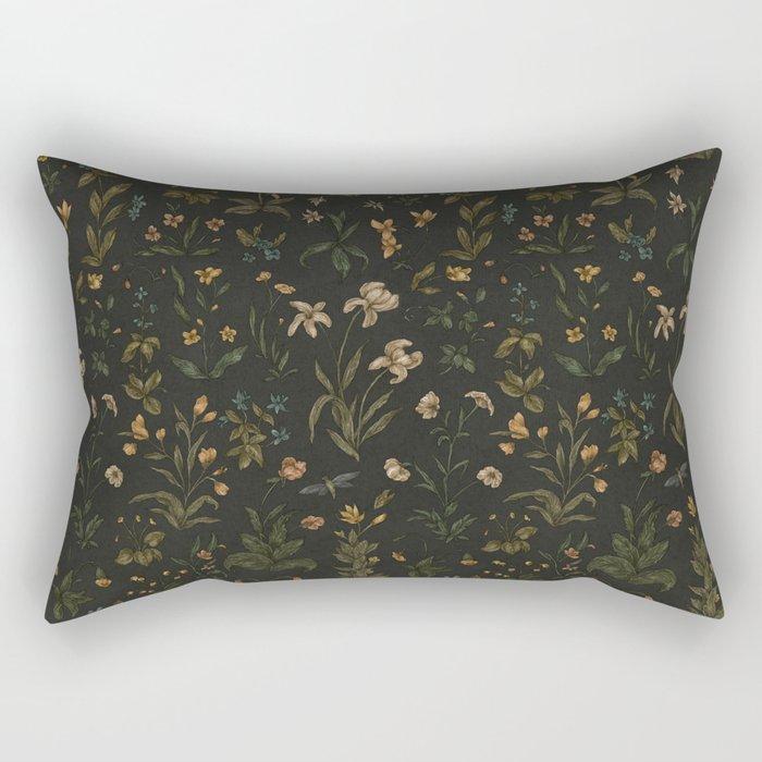 Old World Florals Rectangular Pillow