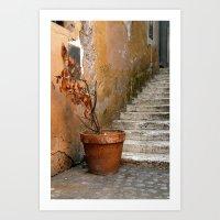 orange pattern Art Prints featuring orange pattern by Massimo Lanzi