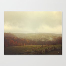 Misty Fall in Vermont Canvas Print