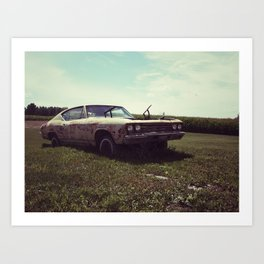 69 Chevelle 'Zombiecar' Art Print