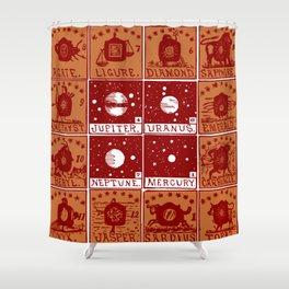 Twelve precious stones Shower Curtain
