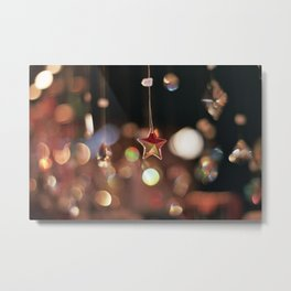 Sparkly Star Metal Print