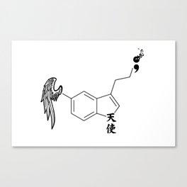 Serotonin Semi Colon Canvas Print
