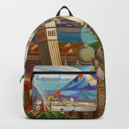 The Carnival of Venice landscape painting by Gerardo Dottori Backpack