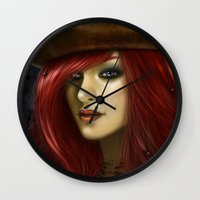 ruby Wall Clocks featuring Ruby by PiccolaRia