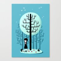 snow white Canvas Prints featuring Snow White by Freeminds