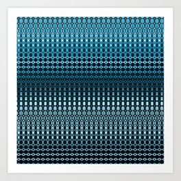 Oscillating Ocean Pattern Art Print