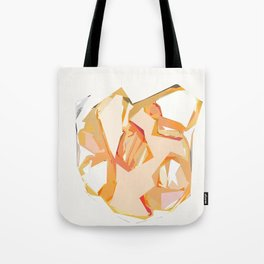 Golden Heart Abstract Art Print Tote Bag