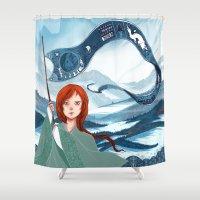 saga Shower Curtains featuring The Banner Saga by Tori