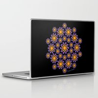 sun and moon Laptop & iPad Skins featuring Sun, Moon and Stars by artsytoocreations