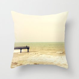 The pier is for fishing Throw Pillow
