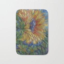 Sunflower Painting Bath Mat
