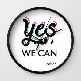 YES, we can. Wall Clock
