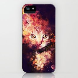 abstract young cat wsstd iPhone Case