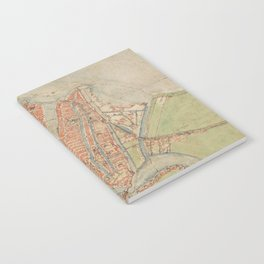 Vintage map of Amsterdam (1560) Notebook