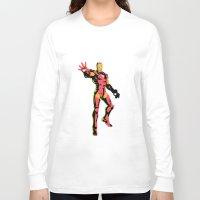 ironman Long Sleeve T-shirts featuring ironman  by mark ashkenazi