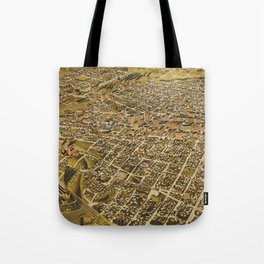 Vintage Pictorial Map of Fort Worth TX (1891) Tote Bag