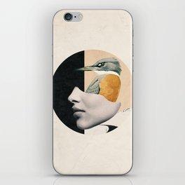 collage art / bird iPhone Skin