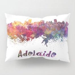 Adelaide skyline in watercolor Pillow Sham