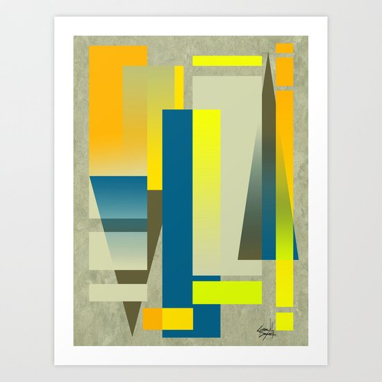 METROPOLIS | yellow Art Print