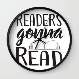 Readers Gonna Read Wall Clock