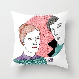 BBC Sherlock fan-art: Molly is sherlocked Throw Pillow