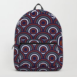 Abstract Modern Concentric Circles Texture Backpack