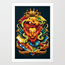 Harry Potter : Hogwarts Houses Art Print