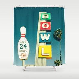 Linbrook Bowl - Anaheim, CA Shower Curtain