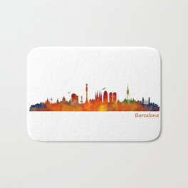 Barcelona City Skyline Hq _v1 Bath Mat
