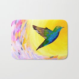 Hummingbird phone case Bath Mat