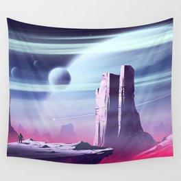 Pinket Moon Wall Tapestry
