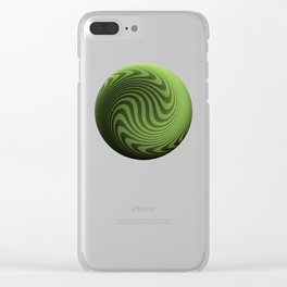 Green/Black Faded Stripes Clear iPhone Case