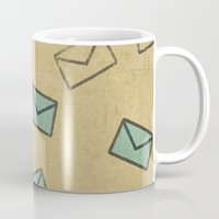 letter Mugs featuring Letter by sinonelineman