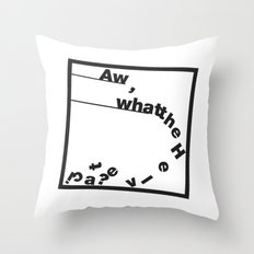 Whatthe Hel v e t  i  c  a? Throw Pillow