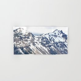 SNOW COVERED PEAKS AROUND CRATER LAKE Hand & Bath Towel